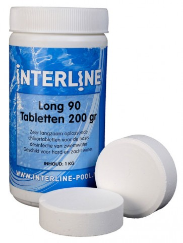 Interline Chlortabletten 90Long 200gr/1kg