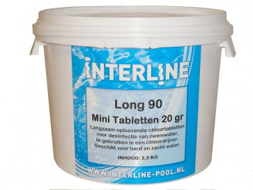 Interline Chlortabletten 90Long 20gr/2.5kg